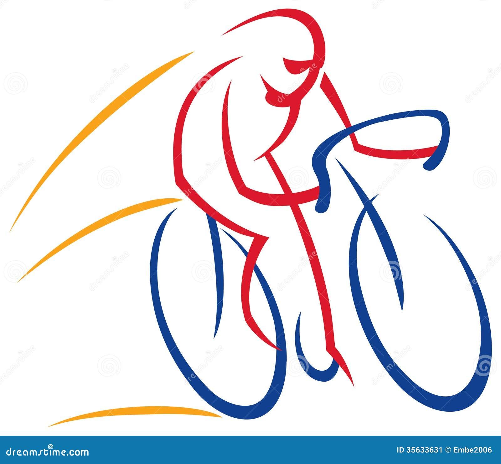 Logotipo del ciclista