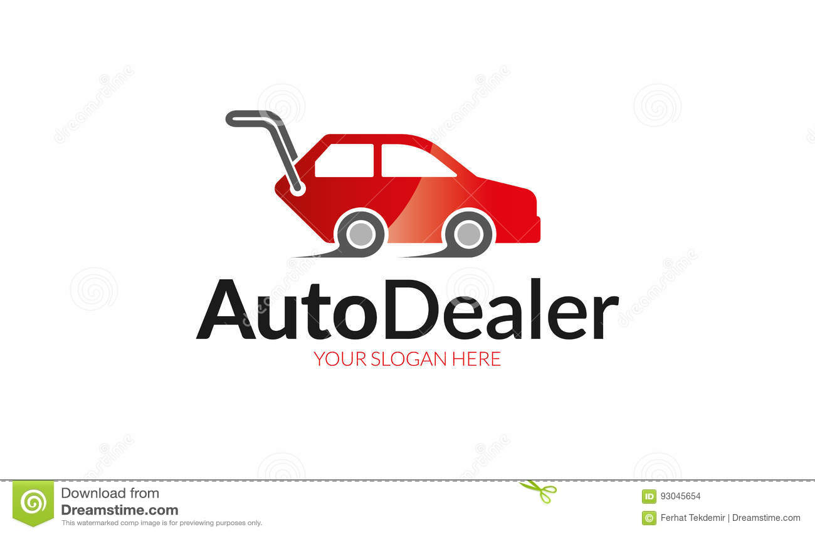 Logotipo Del Concesionario De Automóviles Foto de archivo - Imagen ...
