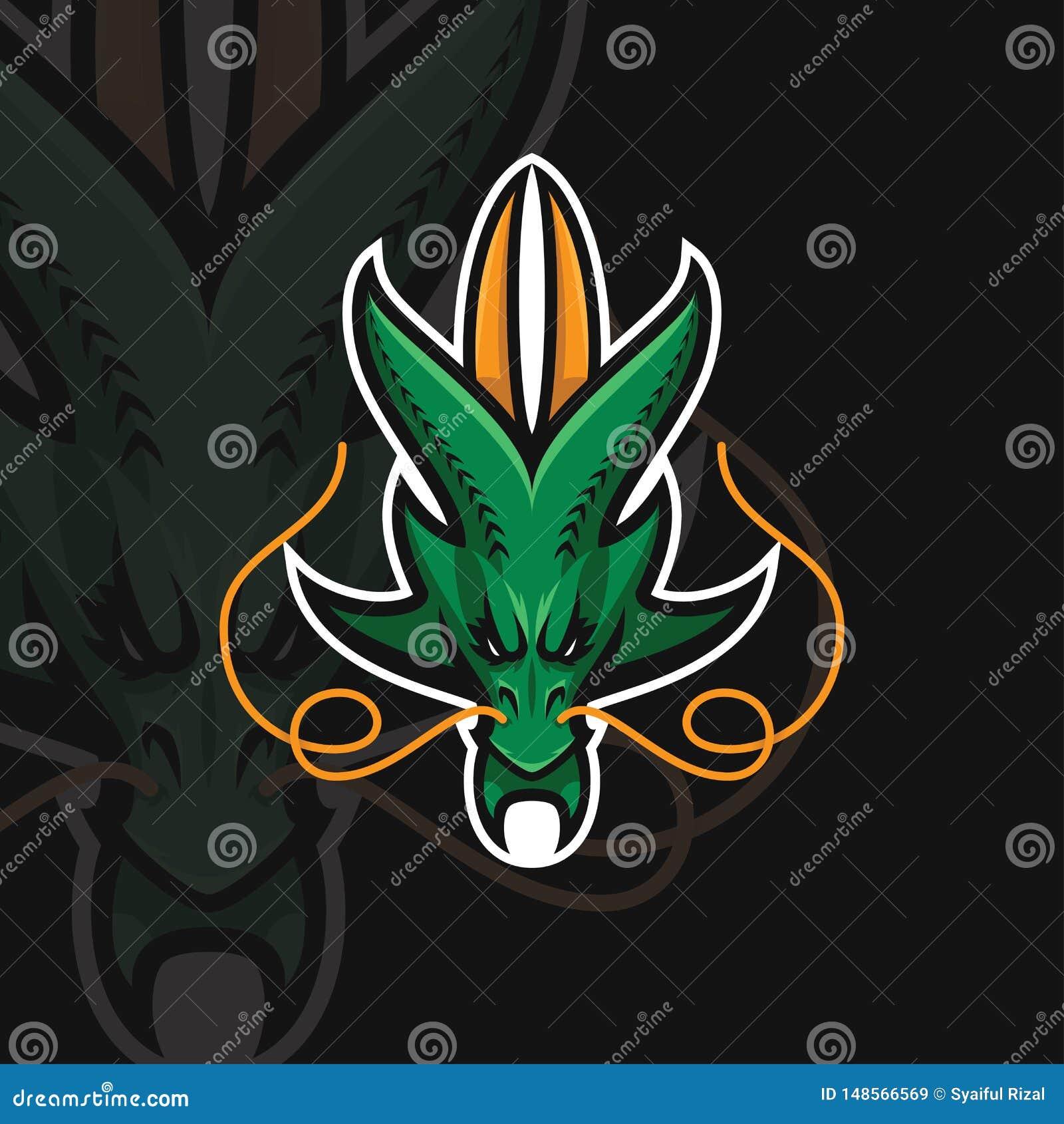 Logotipo del deporte del dragón e