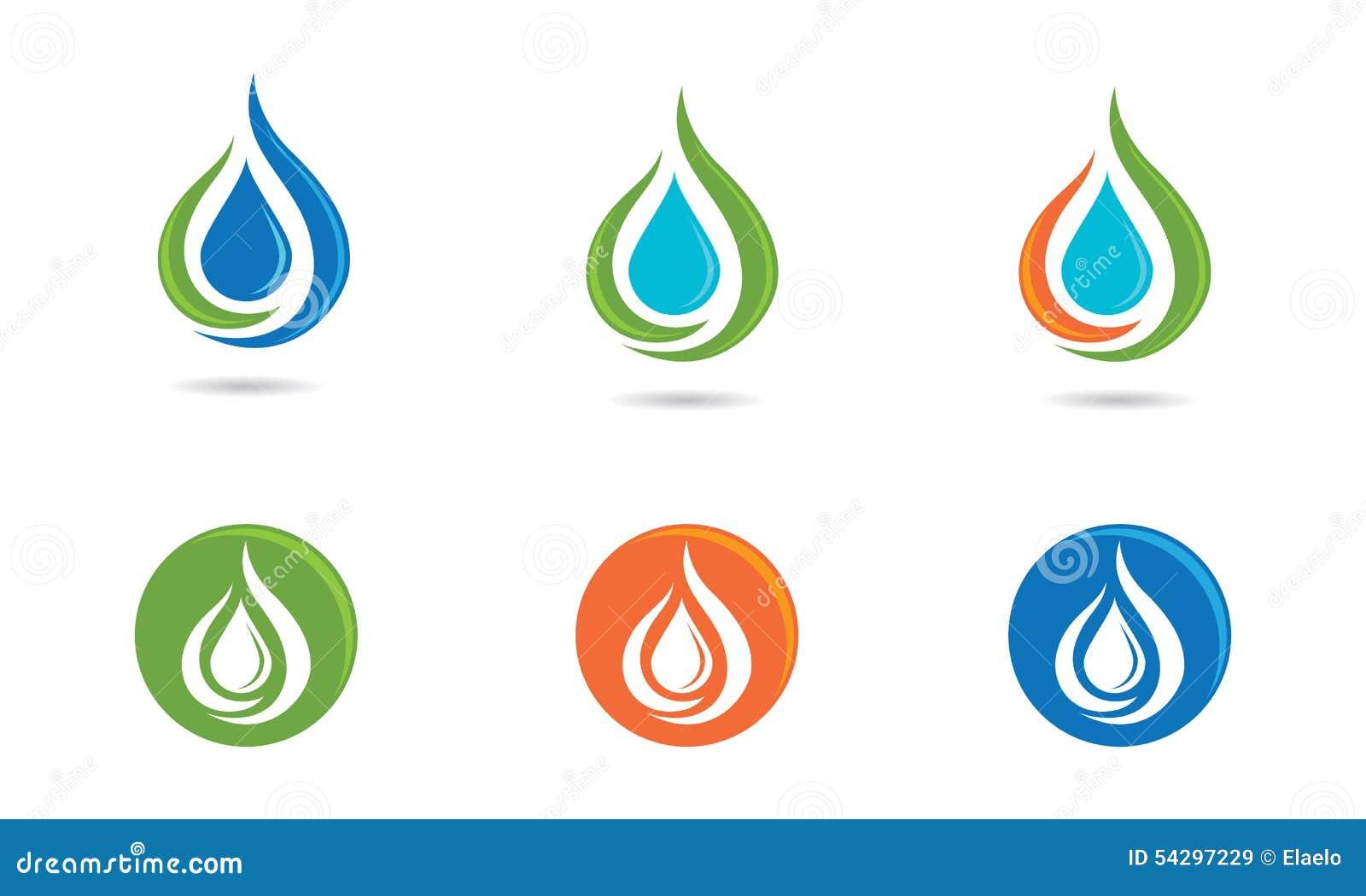 Logotipo del descenso del agua