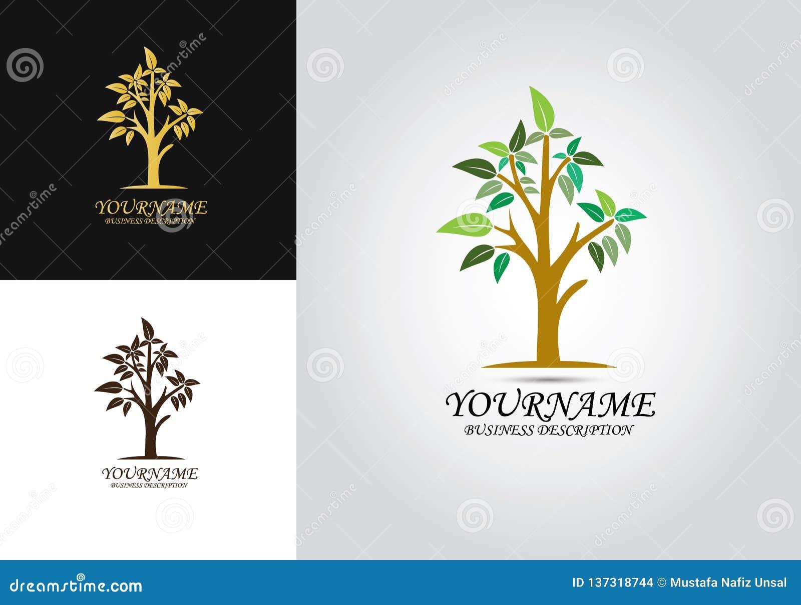 Logotipo del diseño de la hoja del árbol