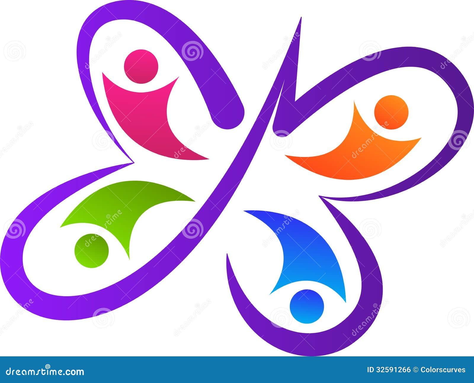 Logotipo del equipo de la mariposa