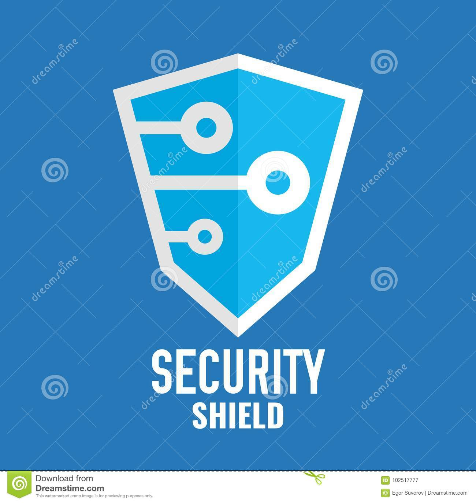 Logotipo Del Escudo De La Seguridad Logotipo De La Tecnología ...