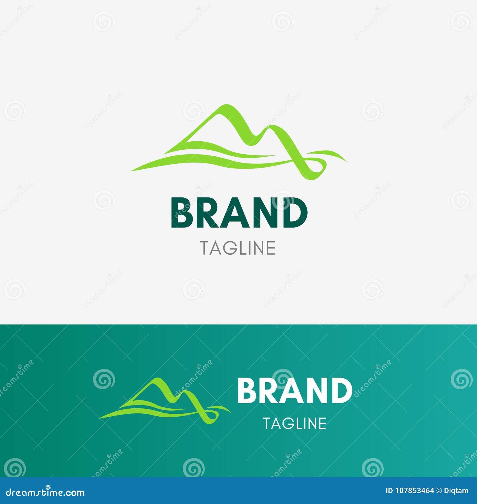 Logotipo del flujo de la montaña