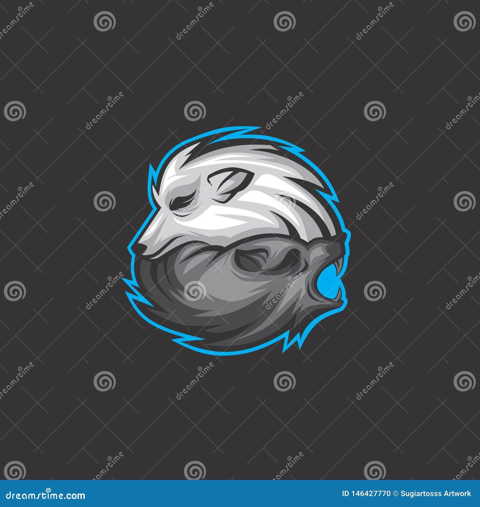 Logotipo del lobo de los gemelos