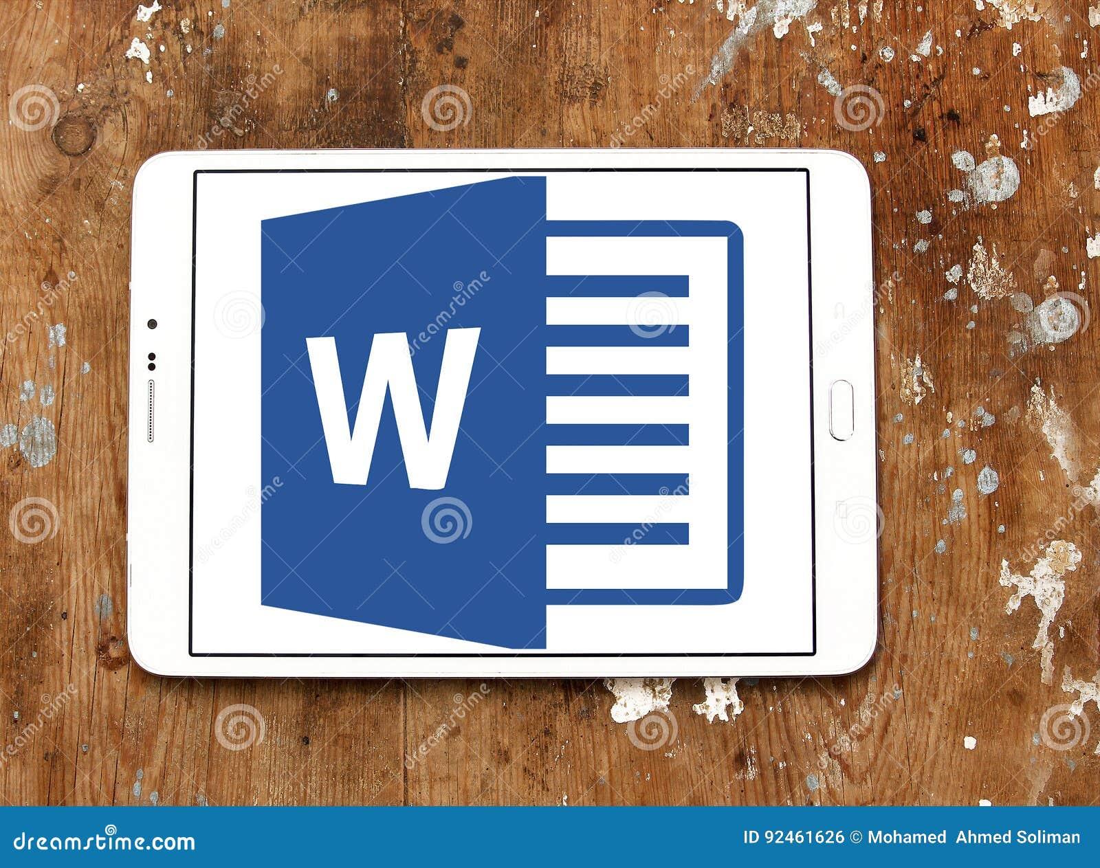 Logotipo Del Microsoft Word Foto editorial - Imagen de aplicaciones ...
