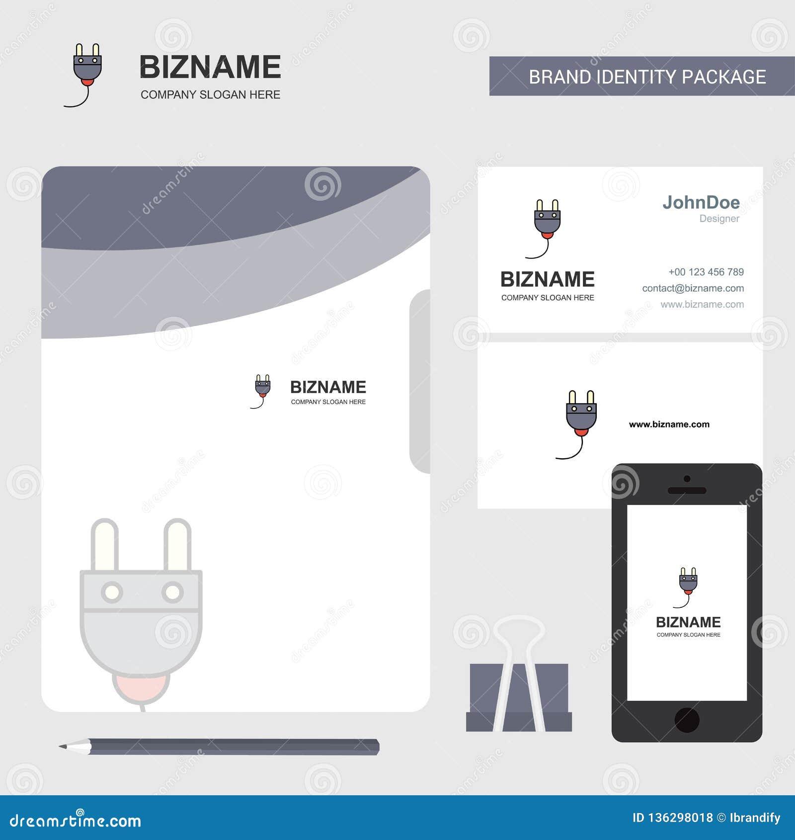 Logotipo del negocio del arado, tarjeta de visita de la cubierta de fichero y diseño móvil del App Ilustración del vector
