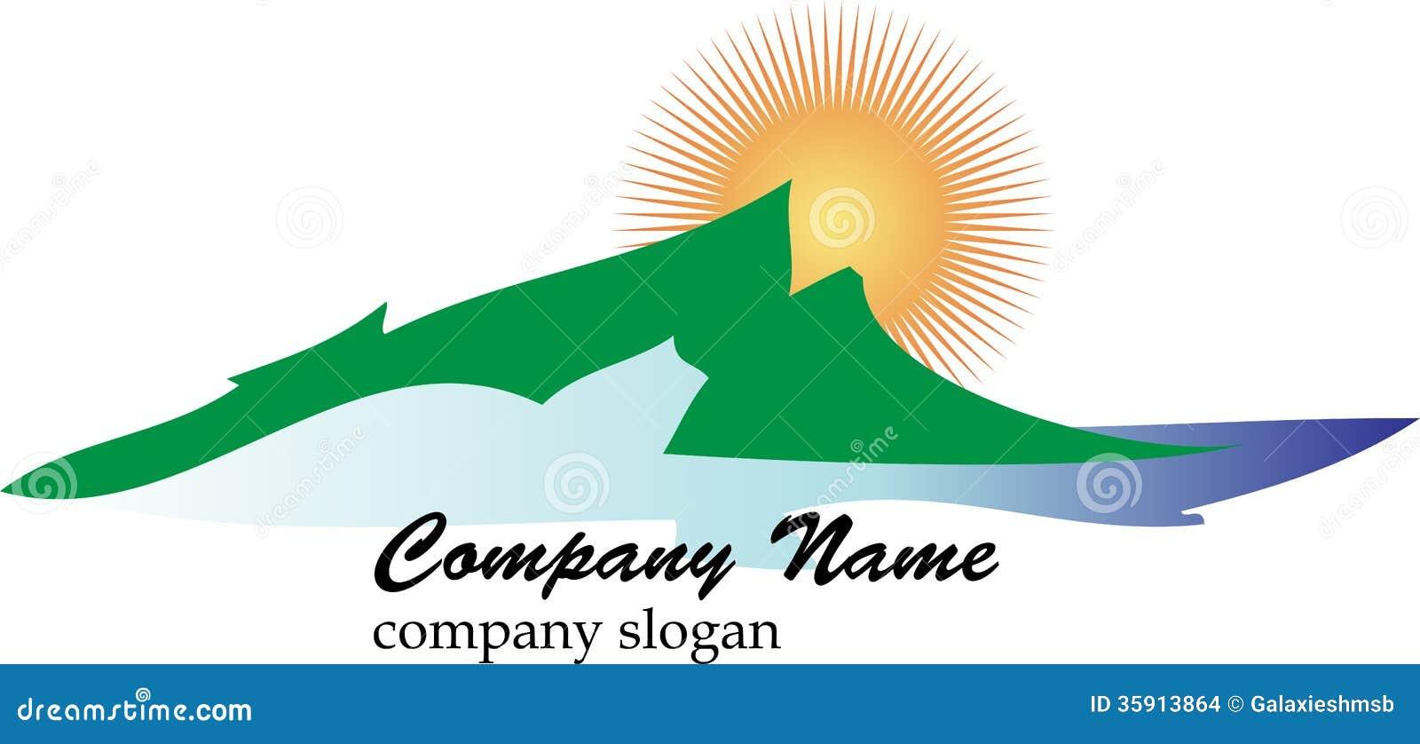 Logotipo del negocio de la montaña