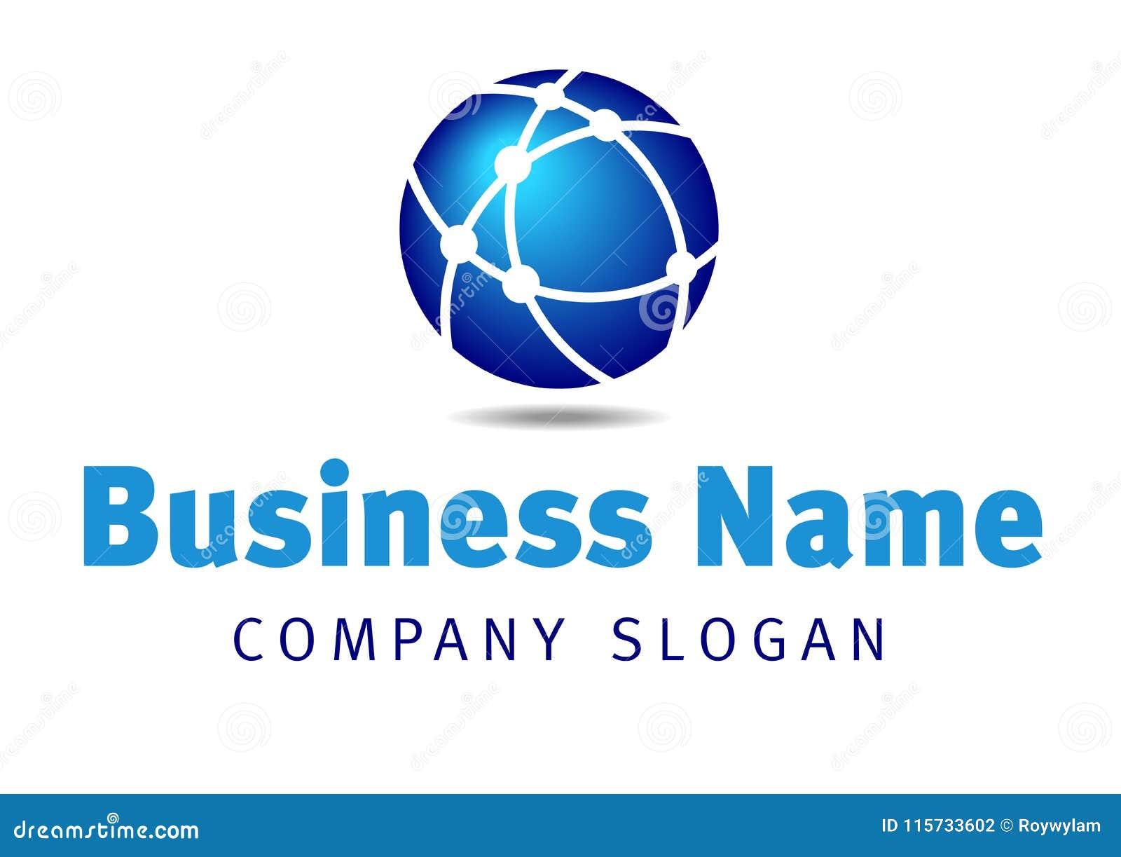 Logotipo del negocio de las comunicaciones de la red global