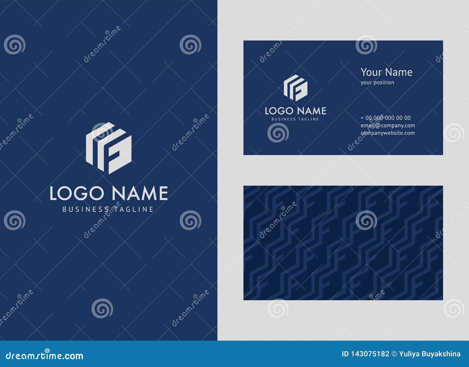 Logotipo del negocio del estilo y plantilla de la tarjeta