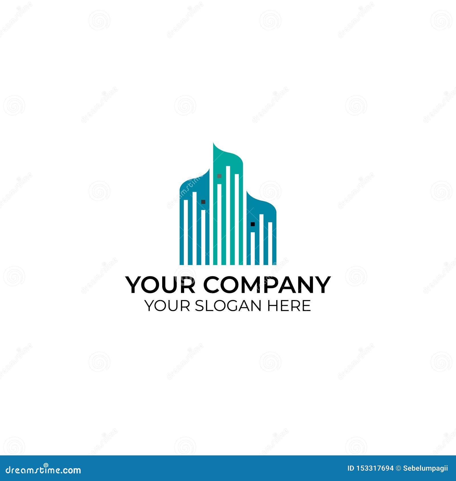 Logotipo del negocio del paisaje urbano