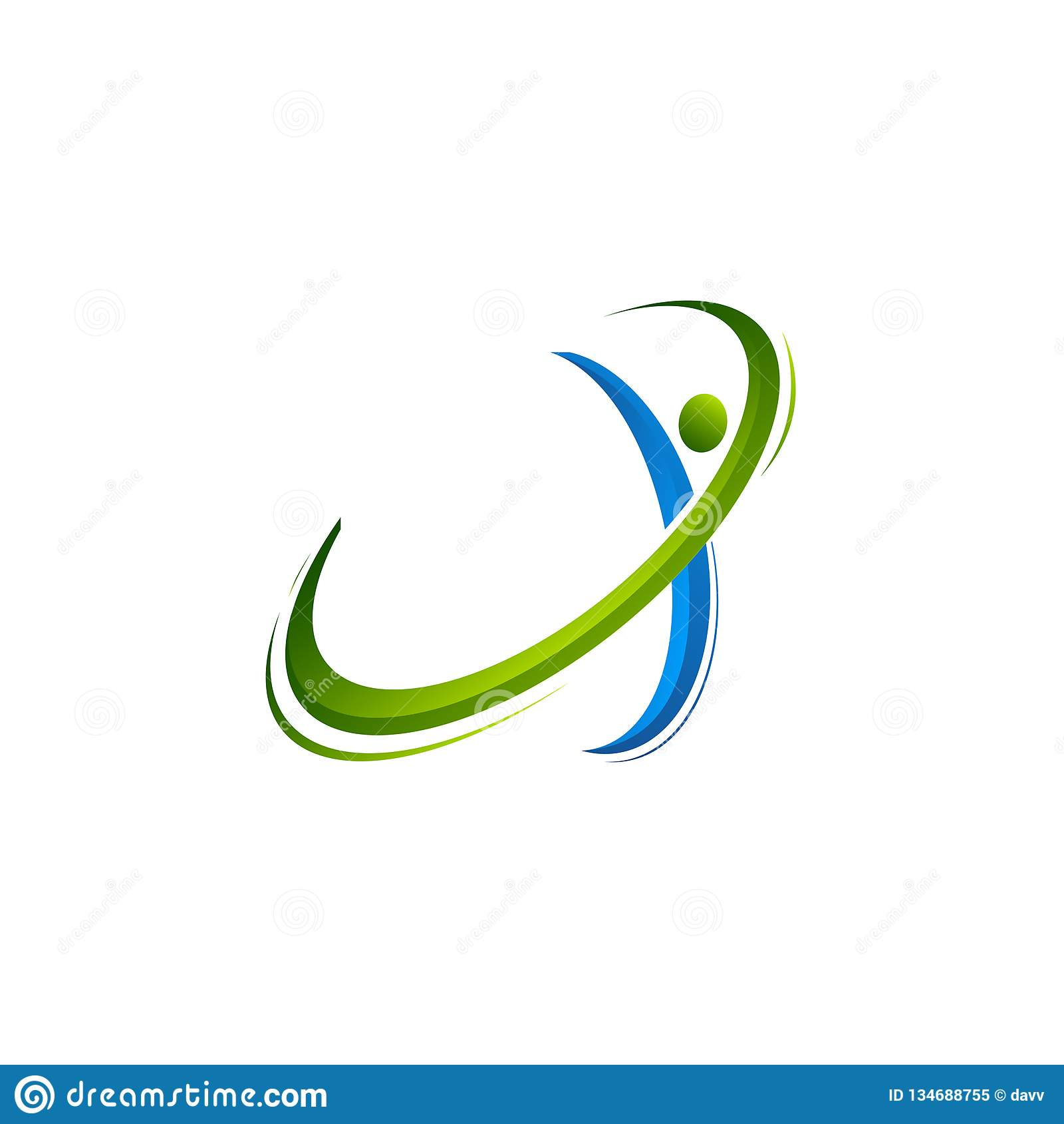 Logotipo del planeta Vector de la órbita y logotipo del satélite logotipo del cosmos El mejor logotipo del planeta Logotipo del c