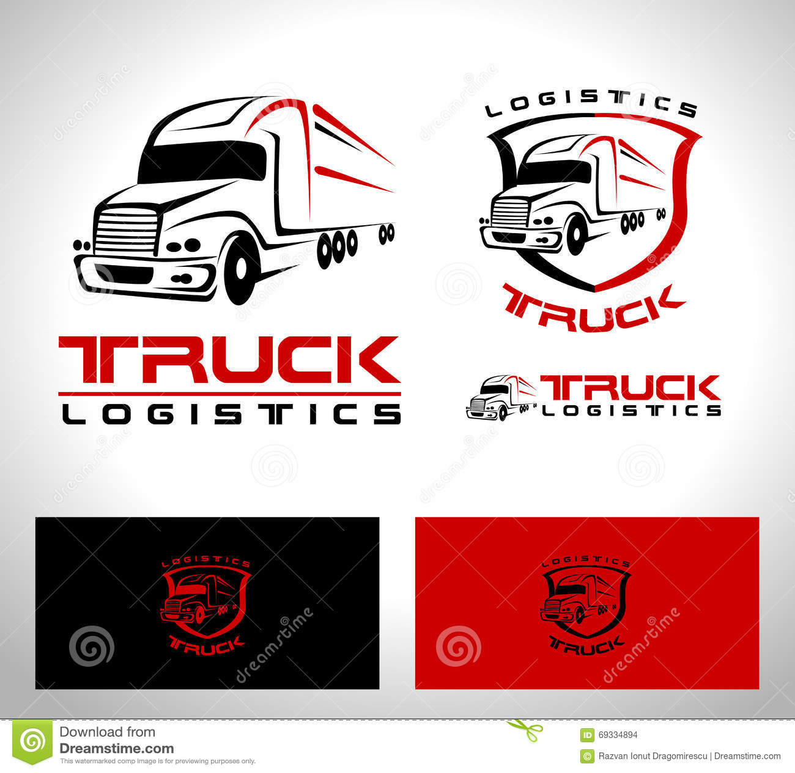 logotipo del remolque del cami243n ilustraci243n del vector