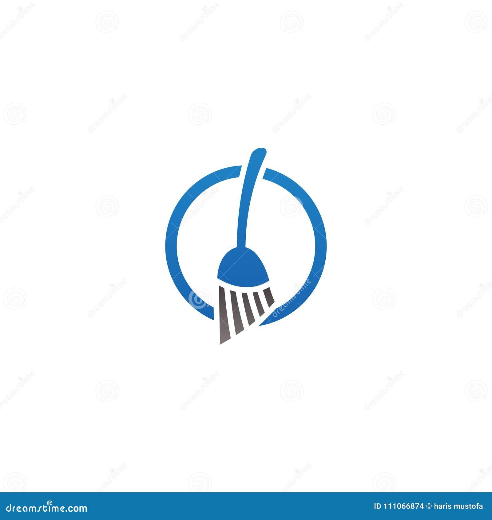 Logotipo Del Saneamiento Del Servicio De La Limpieza Y Plantilla Del ...