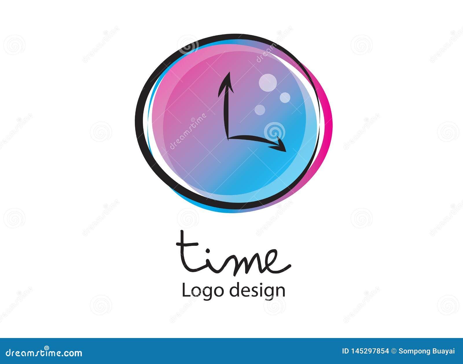 Logotipo del tiempo Alarma, icono del reloj, ejemplo del vector Dise?o plano, icono de la web