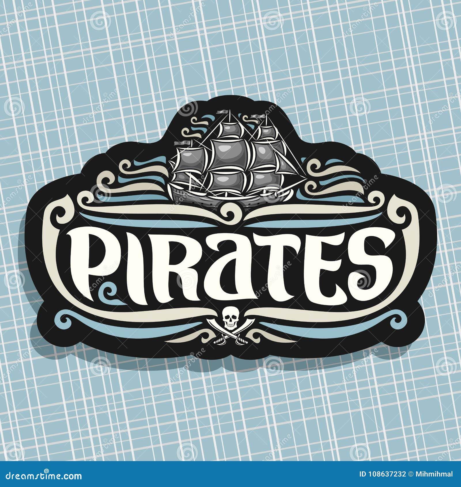 Logotipo Del Vector Para El Tema De Los Piratas Ilustración Del