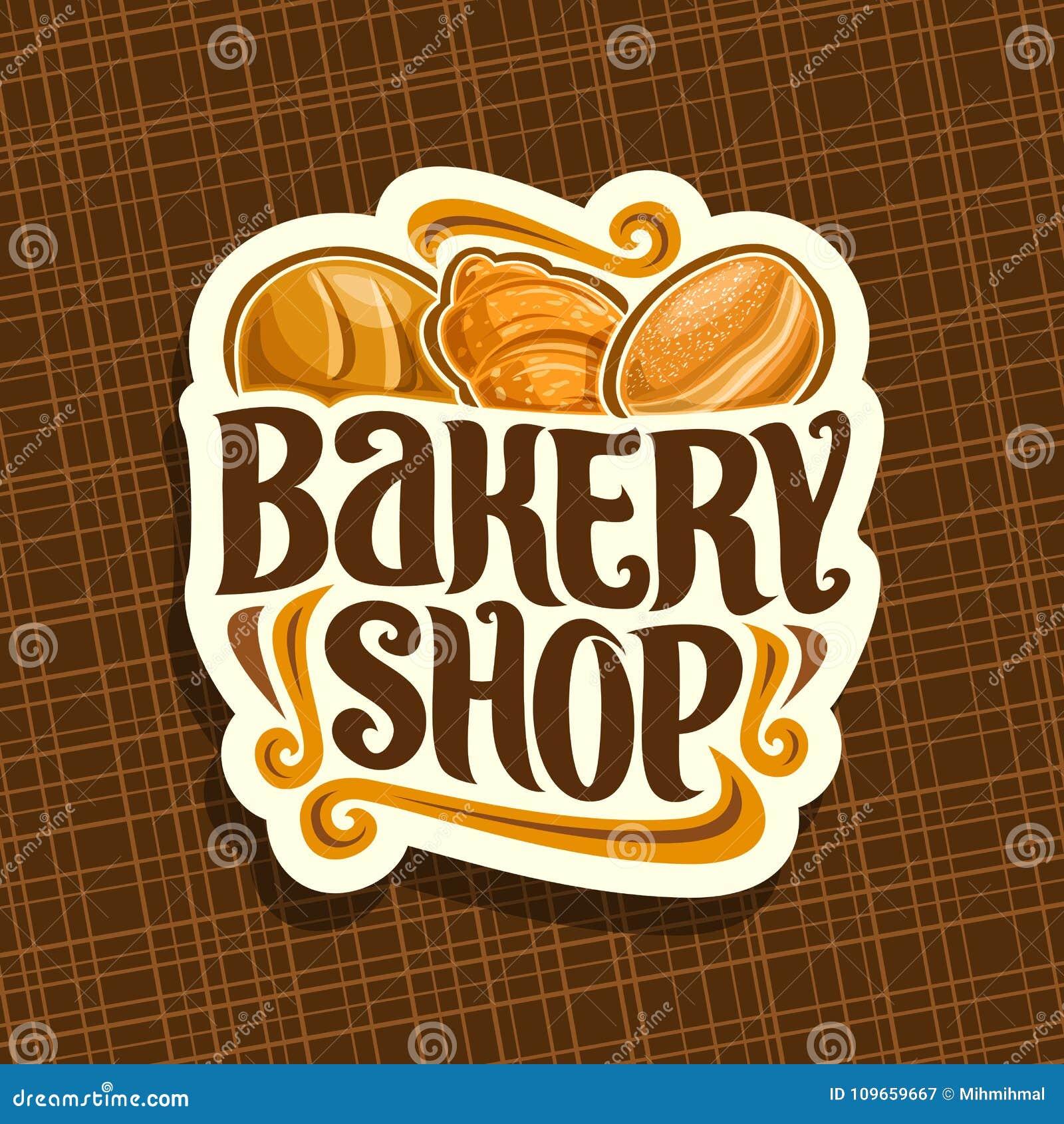 Logotipo del vector para la tienda de la panadería