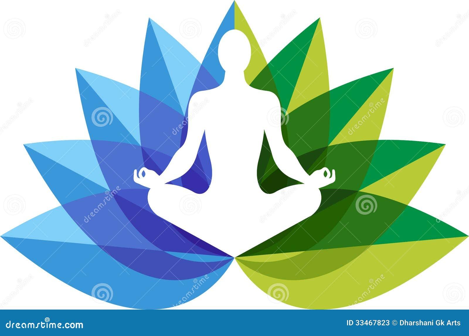 Logotipo del zen de la yoga
