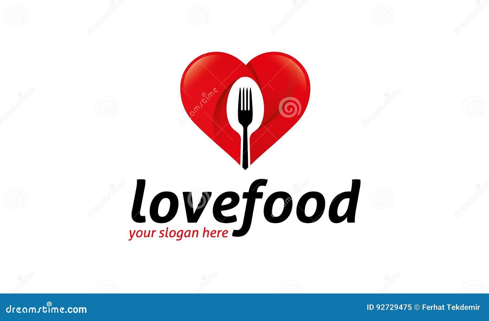Logotipo do alimento do amor