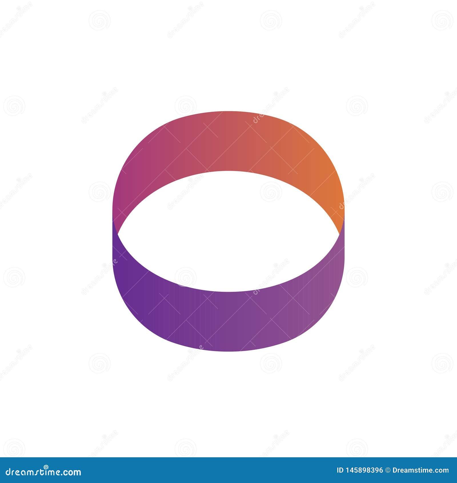 Logotipo do círculo ou logotipo dado forma olho