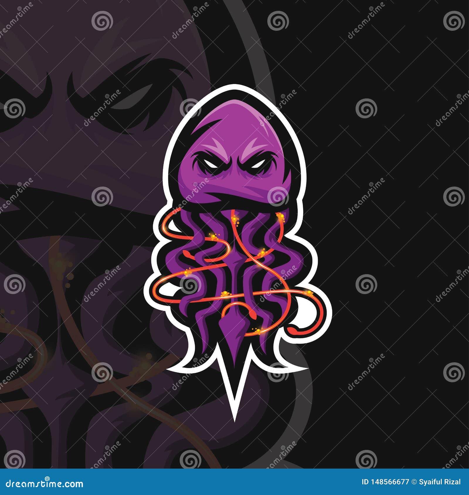 Logotipo do esporte das medusa e