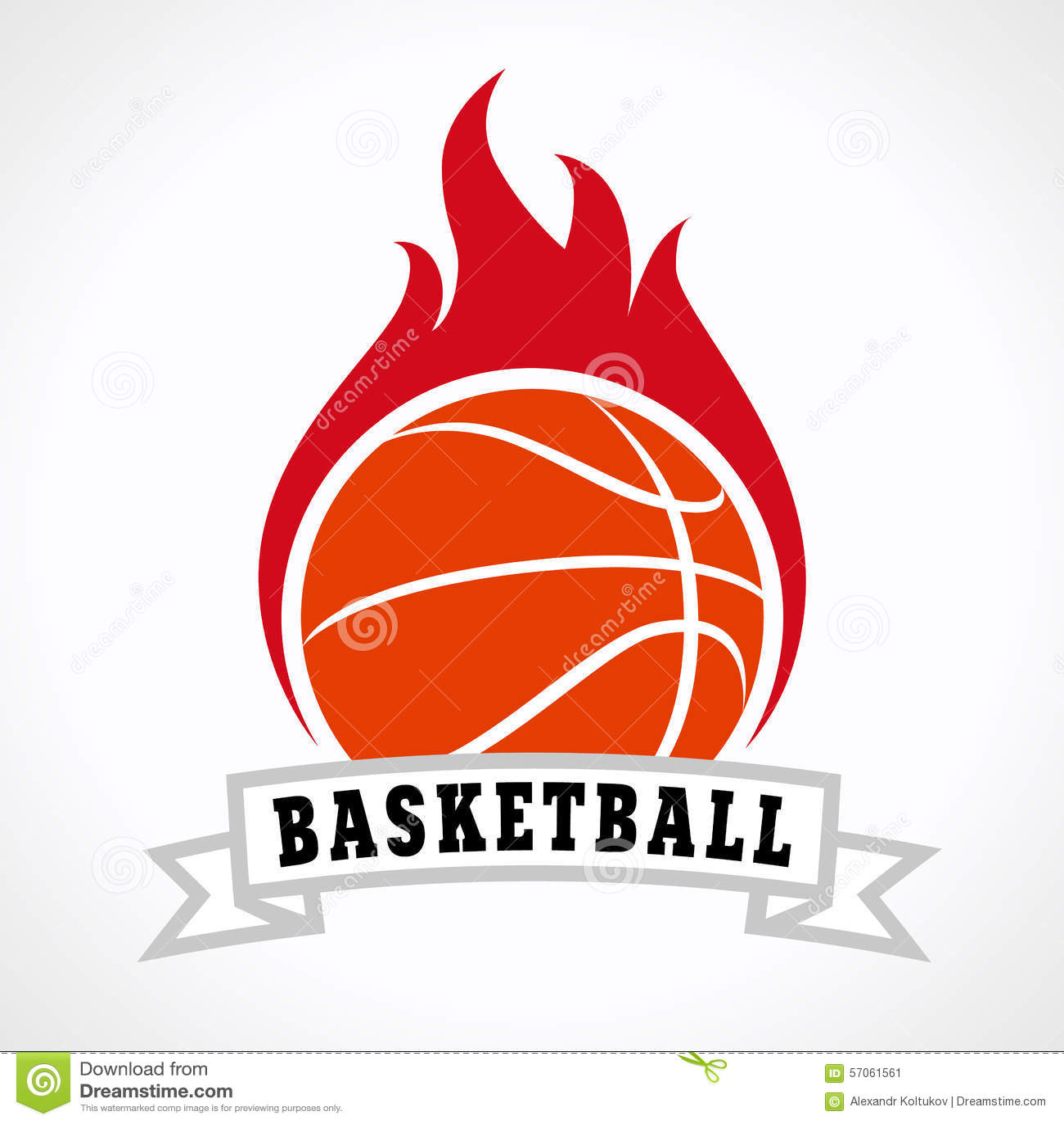 logotipo do fogo do basquetebol ilustra231227o do vetor