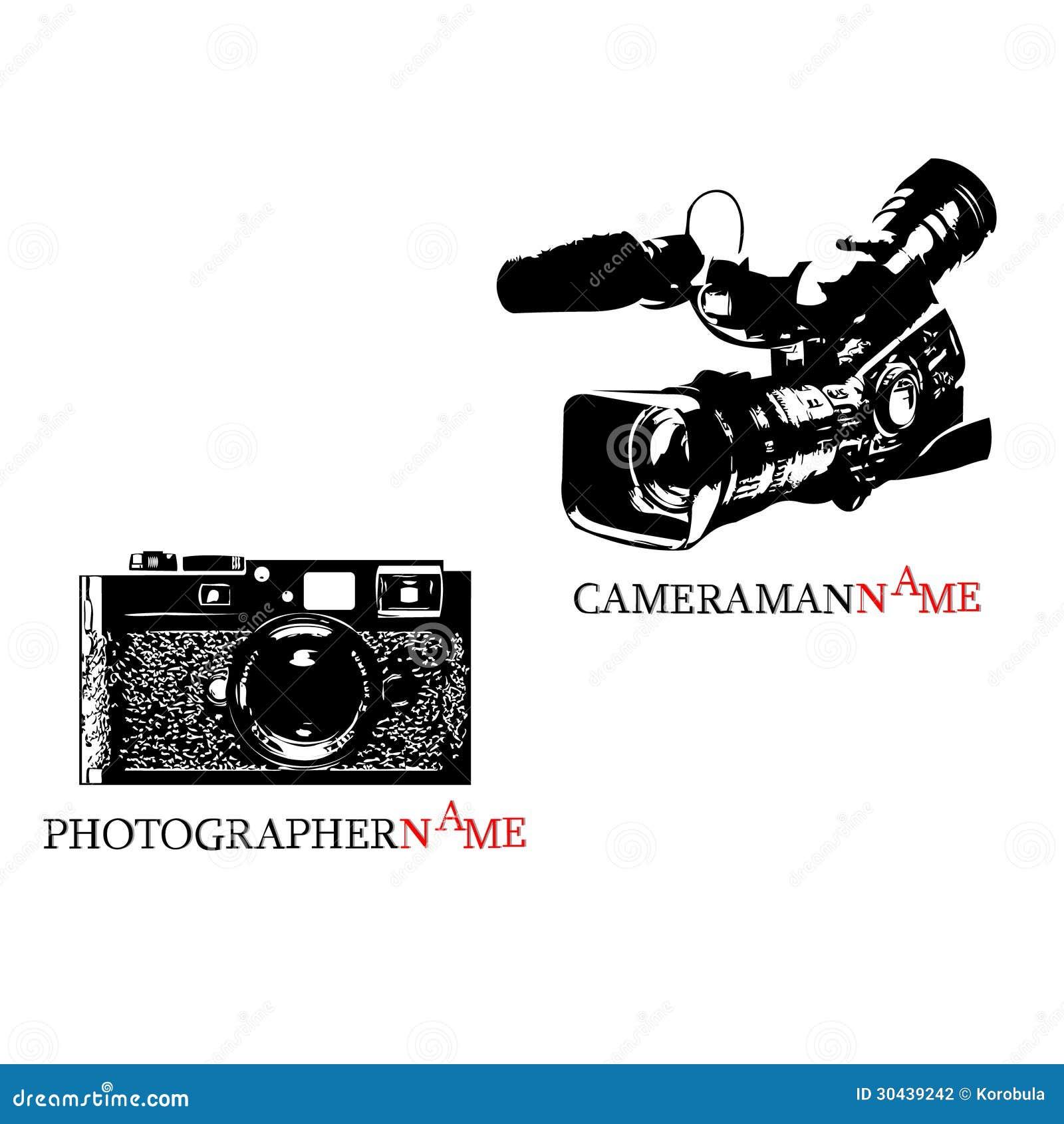 Logotipo do fotógrafo e logotipo do operador cinematográfico