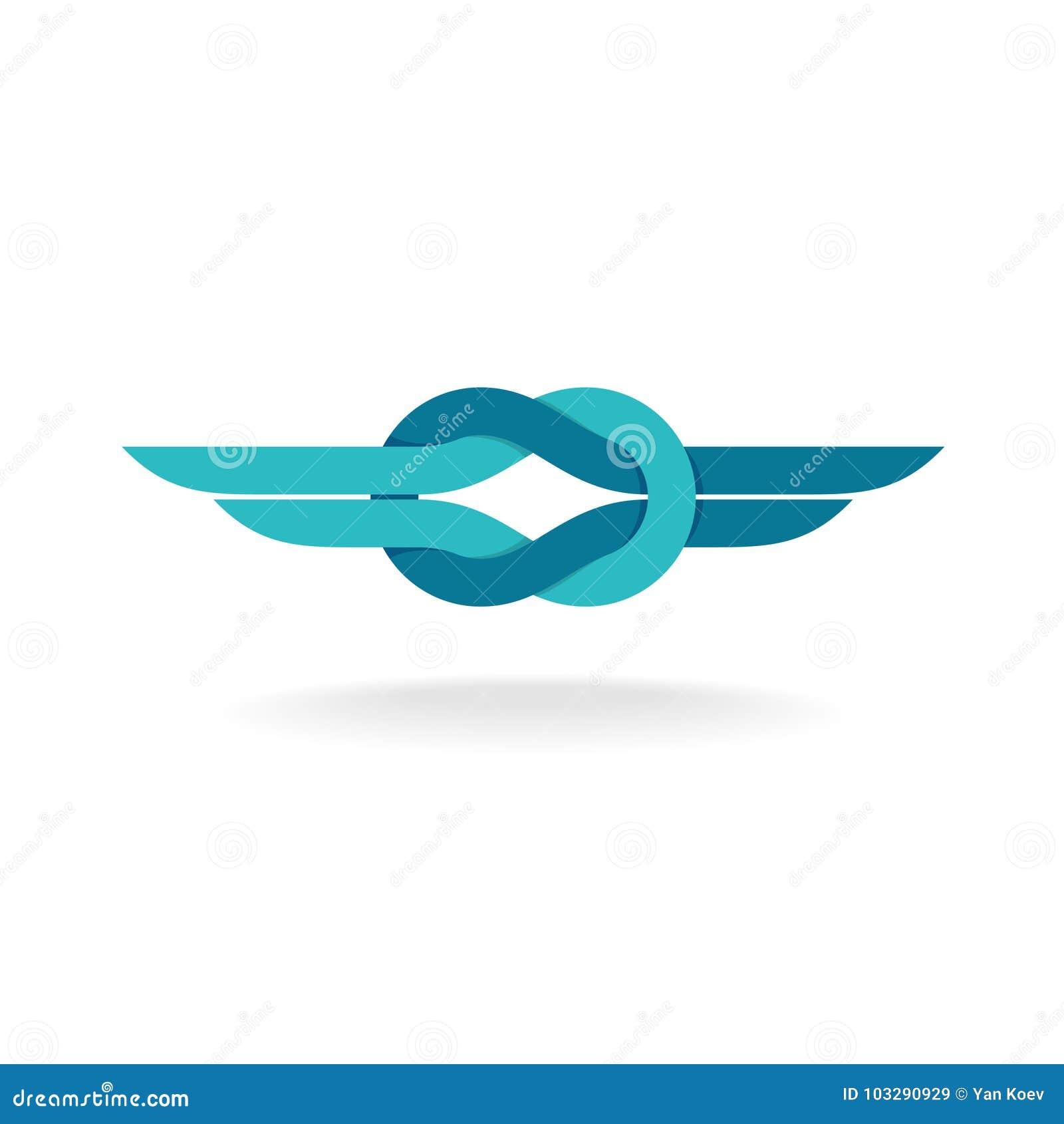 Logotipo do nó com asas