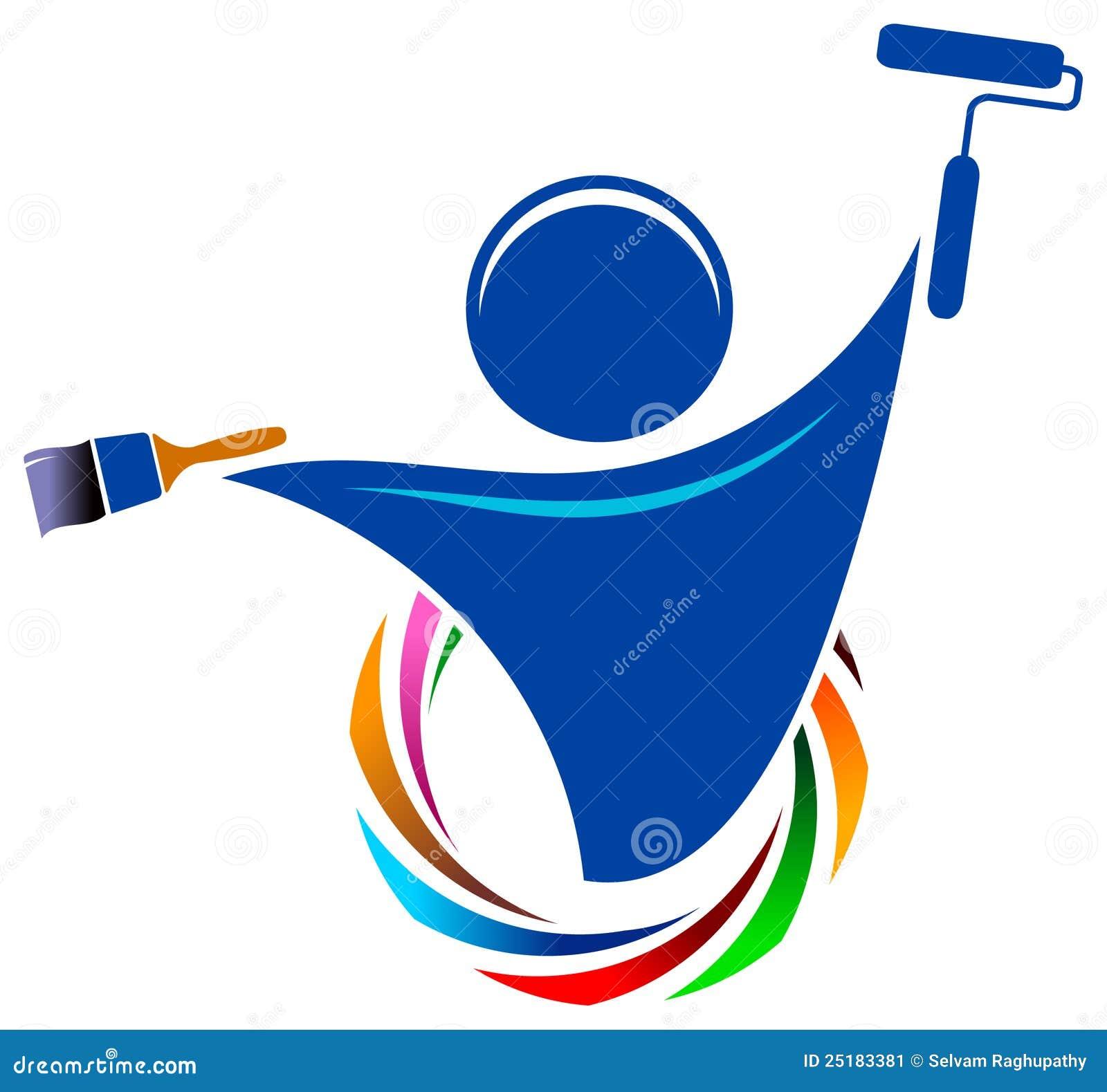Renovate House Logotipo Do Pintor Imagem De Stock Imagem 25183381