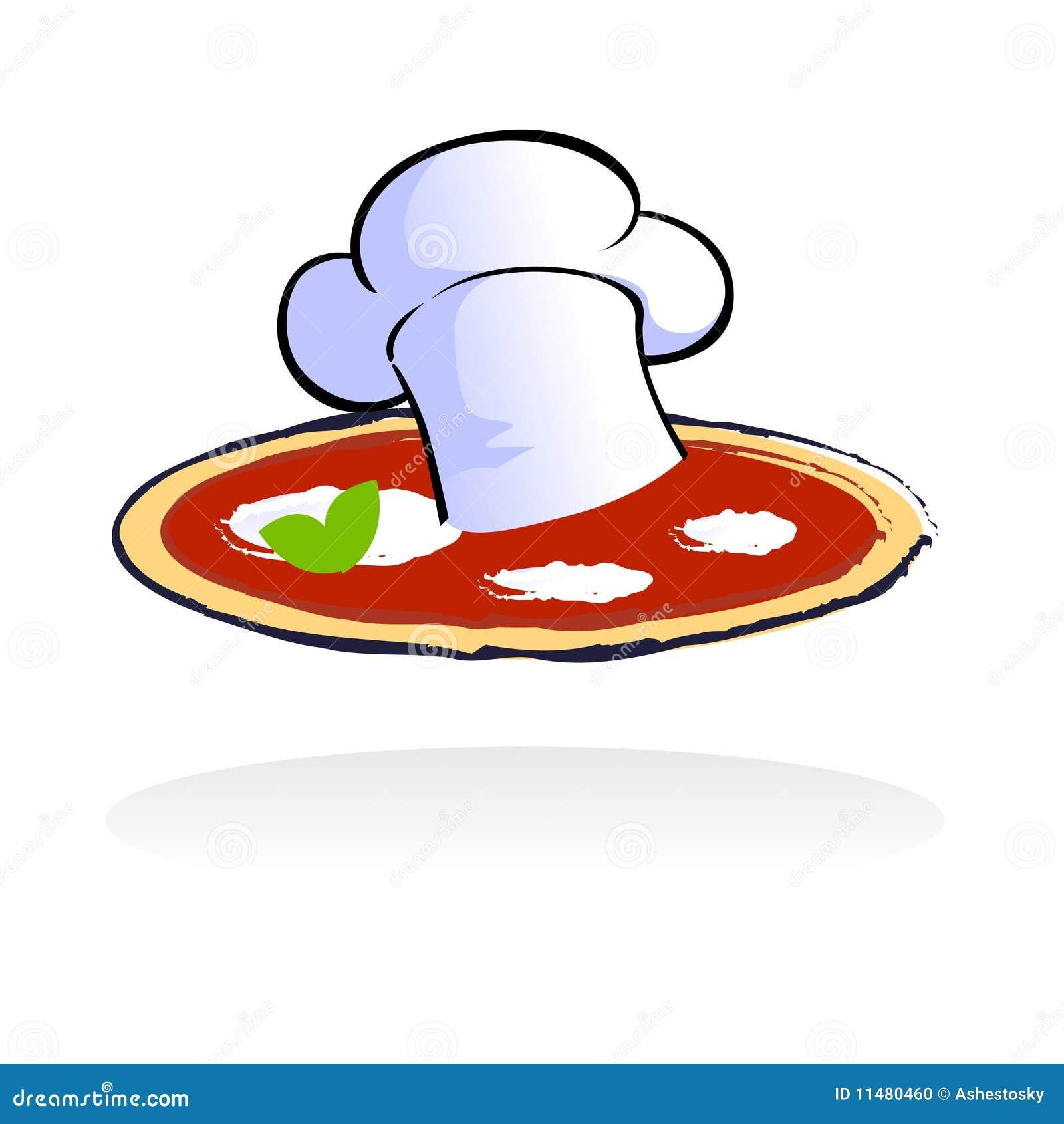 Foto de Stock: Logotipo do restaurante da pizza