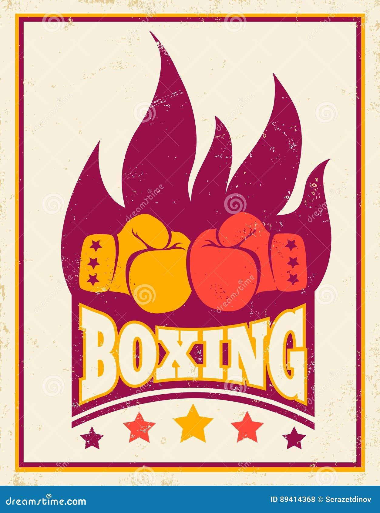 Logotipo do vintage para encaixotar