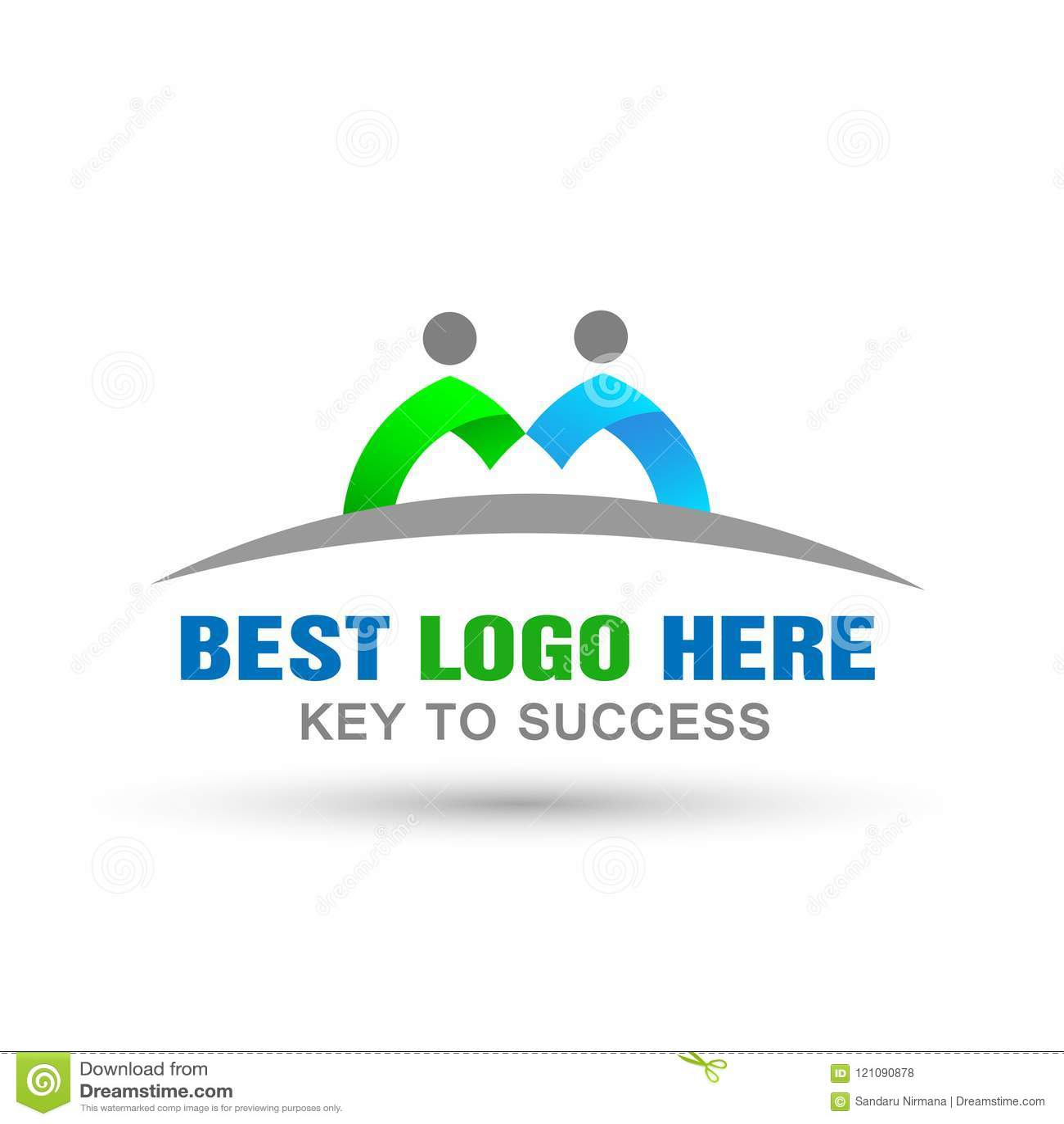 Logotipo dos pares da união dos povos, trabalho da equipe no projeto incorporado do logotipo para o ícone do logotipo do negócio