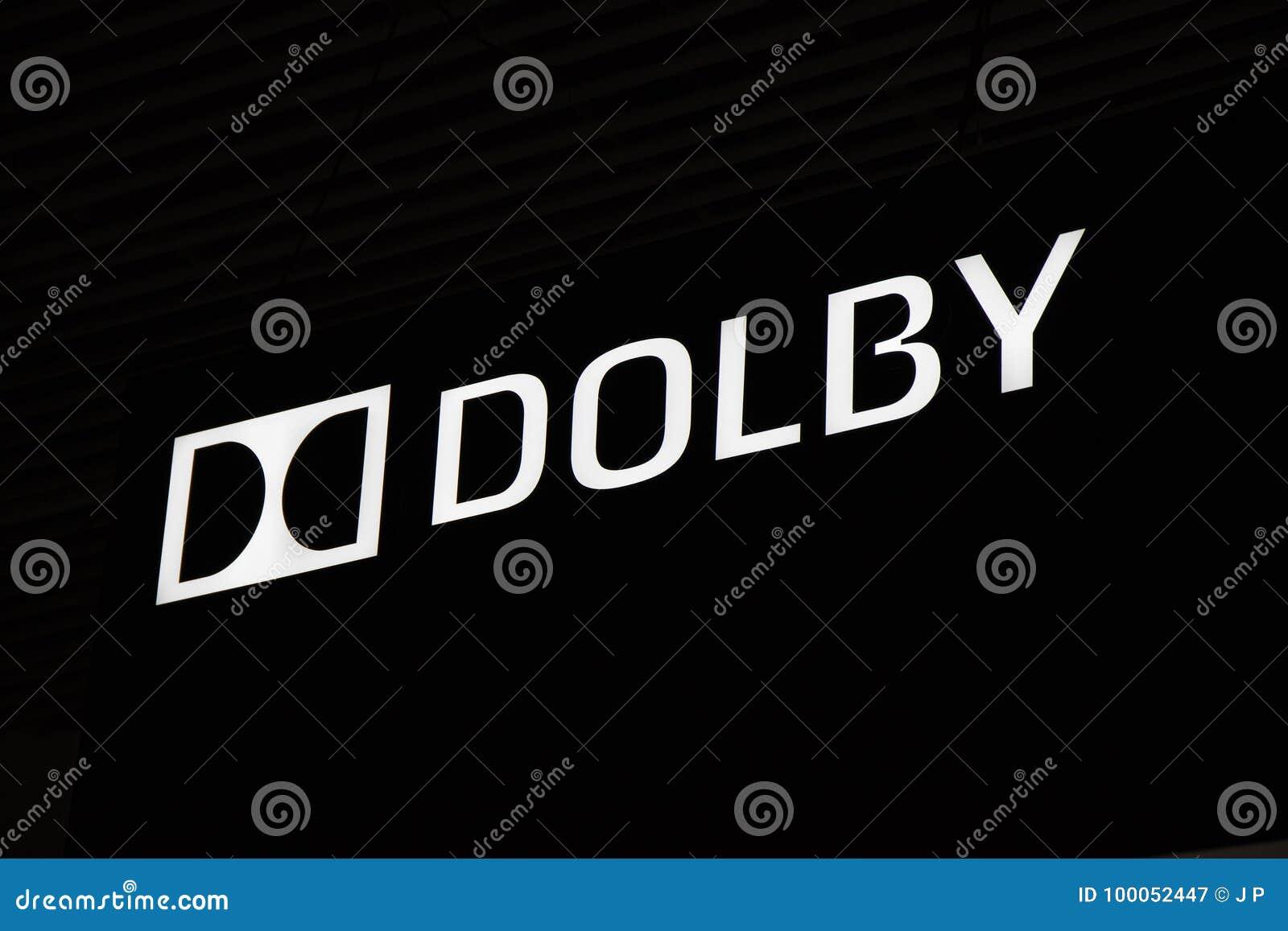 Logotipo e letras do Dolby