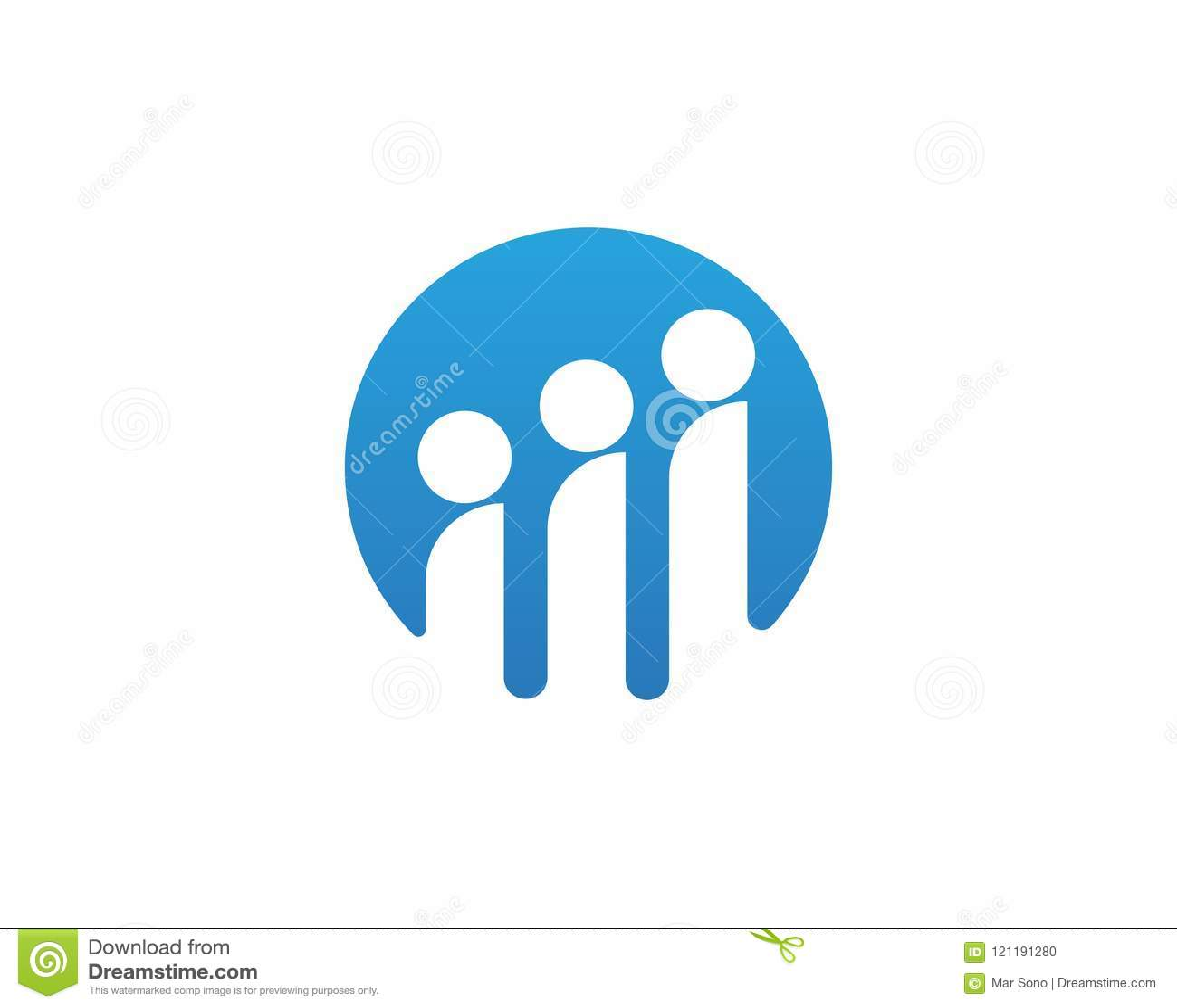 Logotipo e símbolos do grupo dos povos da comunidade da estrela