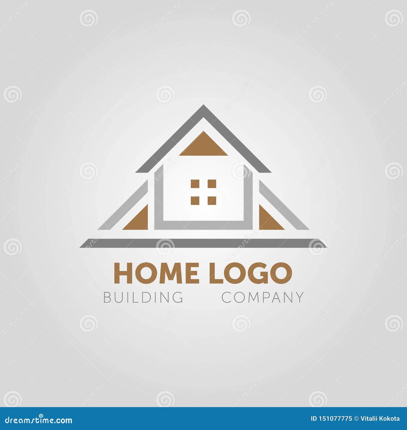 Logotipo elegante casero creativo que detalla con el fondo limpio