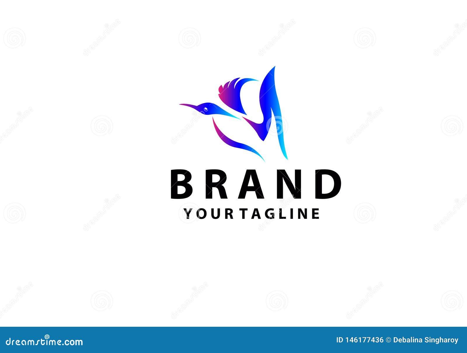 Logotipo elegante colorido simple del pato, logotipo abstracto del pato Ejemplo creativo del dise?o
