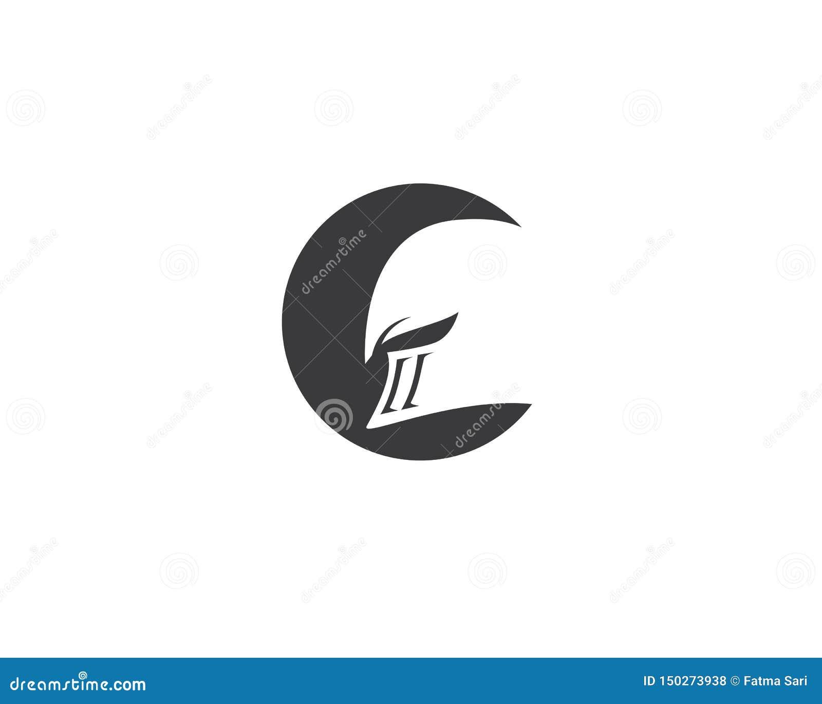 Logotipo espartano do capacete