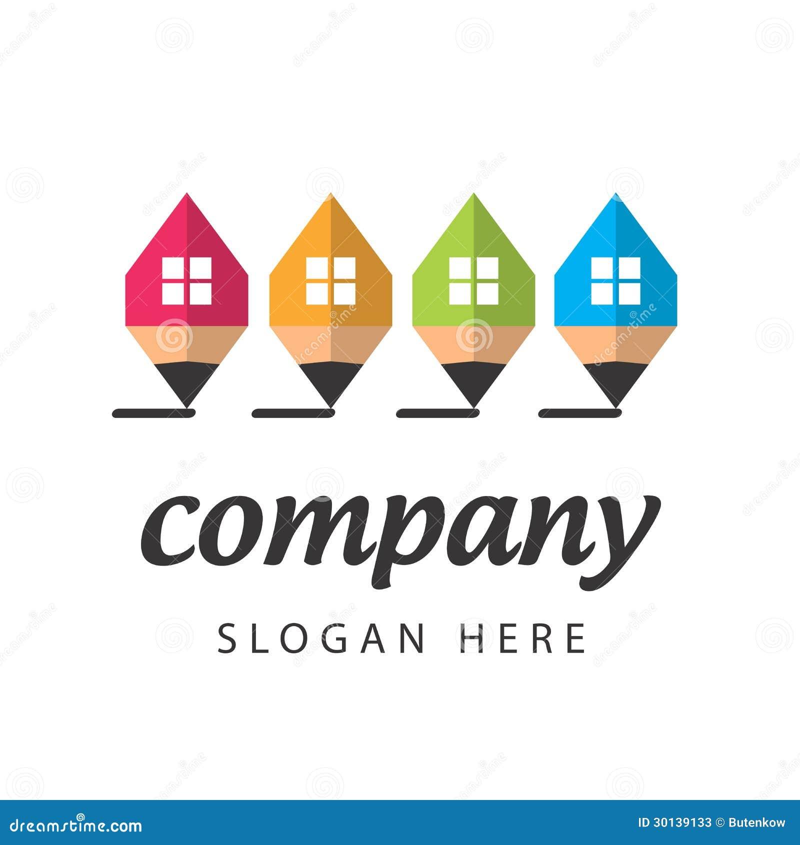 Empresa de la construcci n estilizada del logotipo for Empresas de construccion