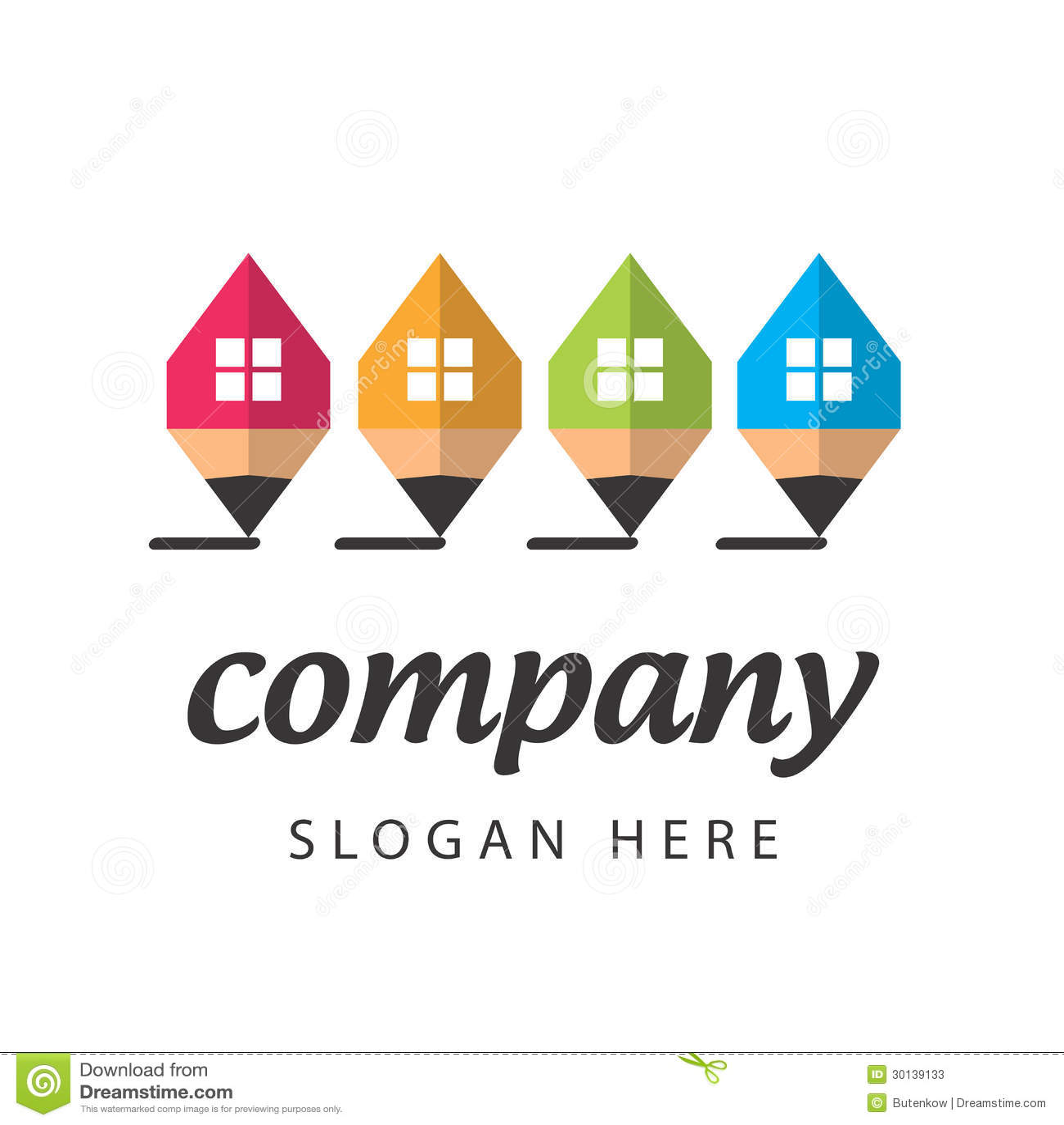 Empresa de la construcci n estilizada del logotipo fotos for Construccion empresa