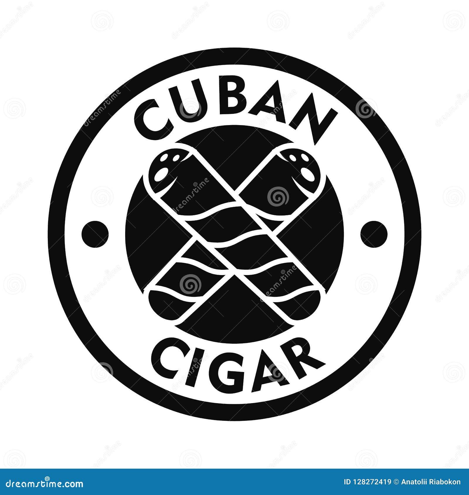 Logotipo fresco cubano del cigarro, estilo simple