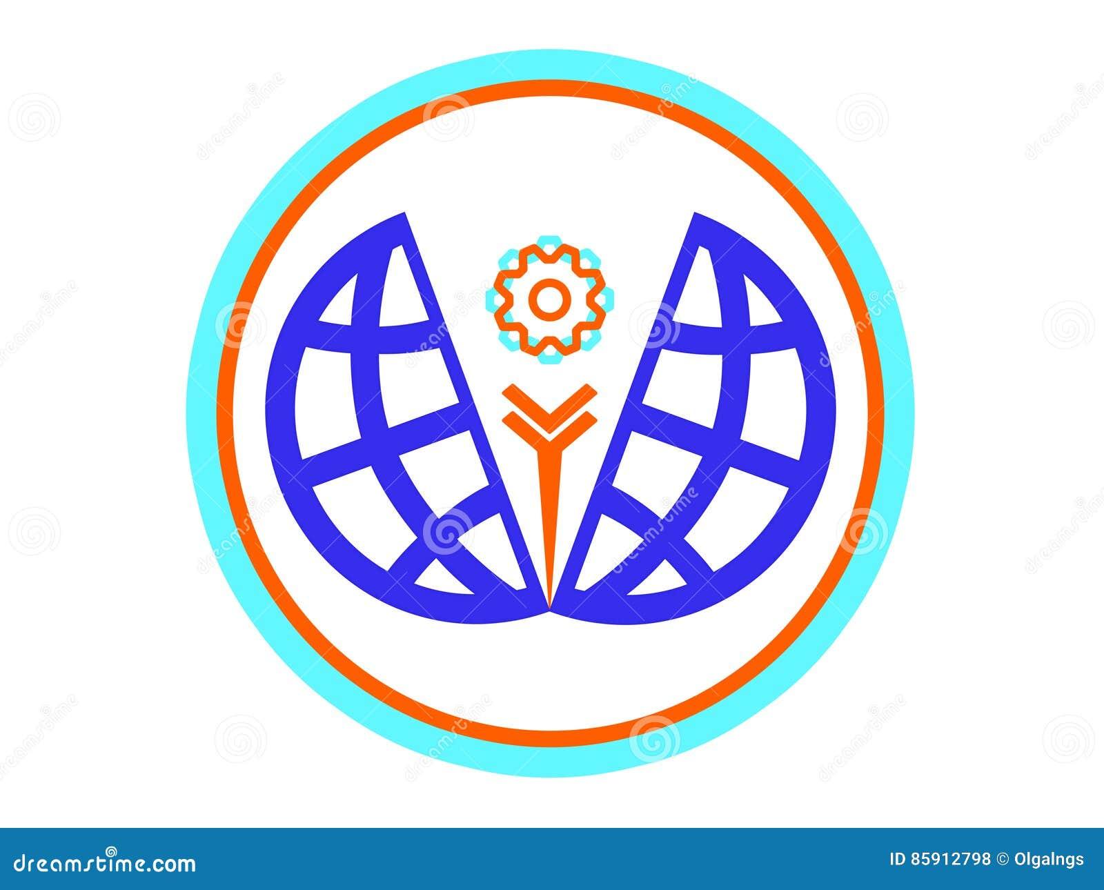 Logotipo, Icono O Emblema Del Desarrollo Del Mundo Stock de ...