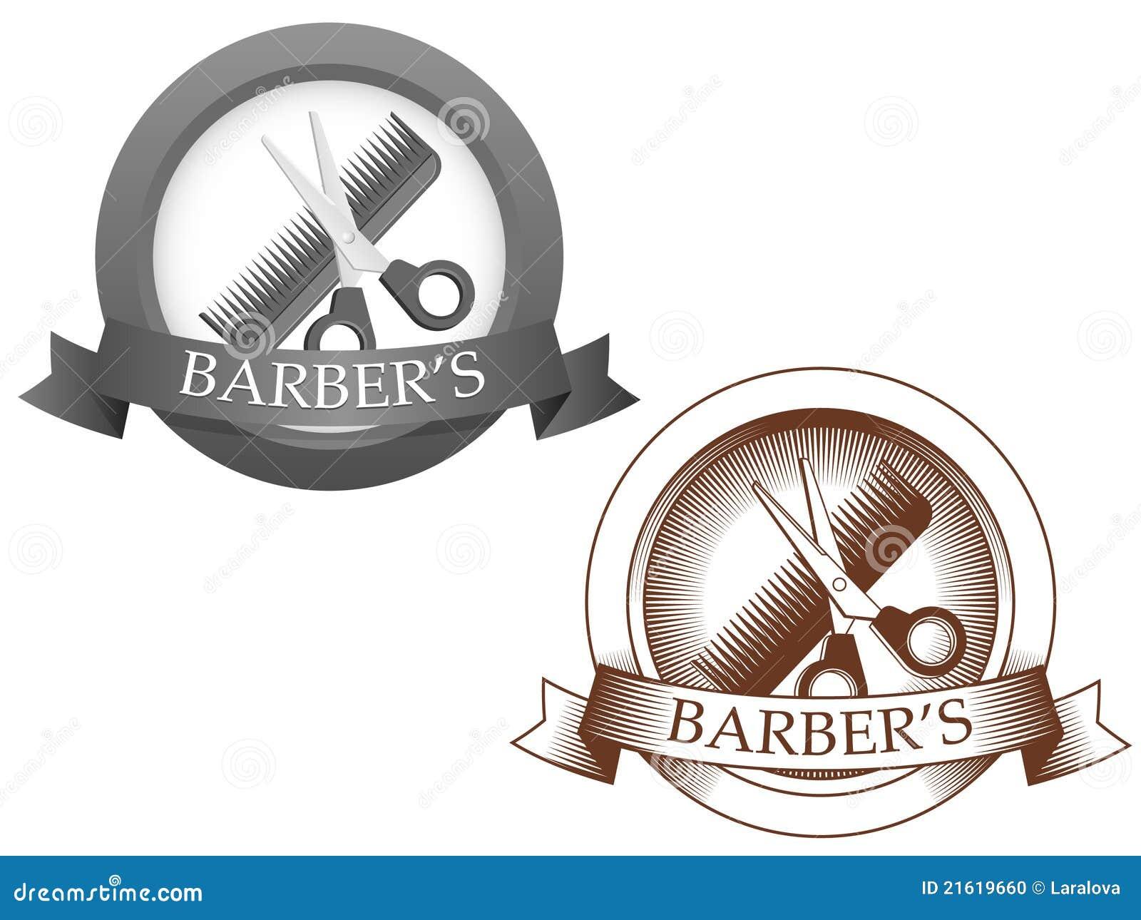 Logotipo imaginário do barbeiro