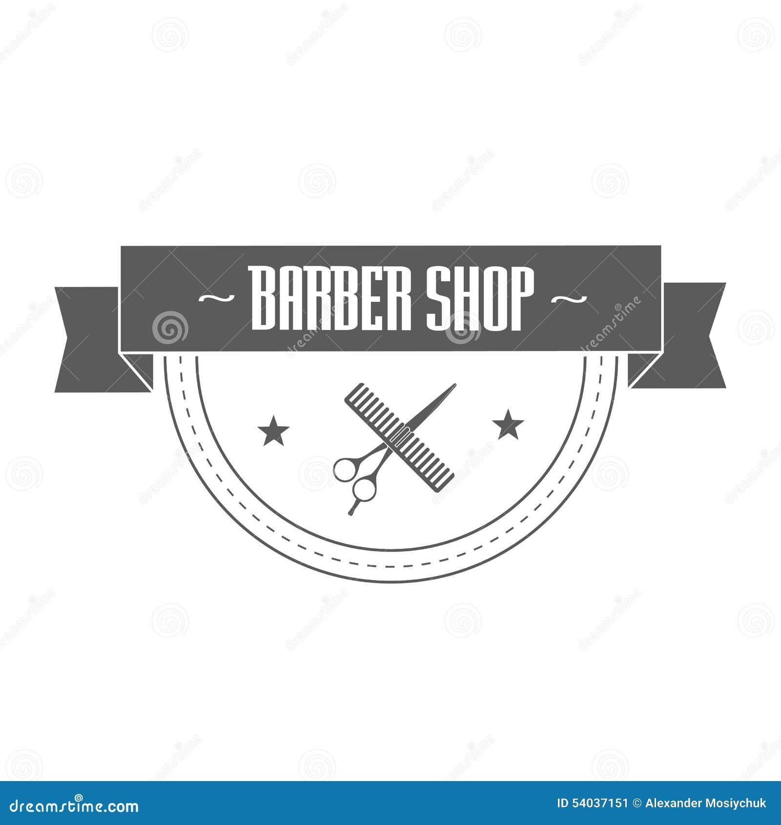 Logotipo imaginário do barbeiro Ilustração do vetor