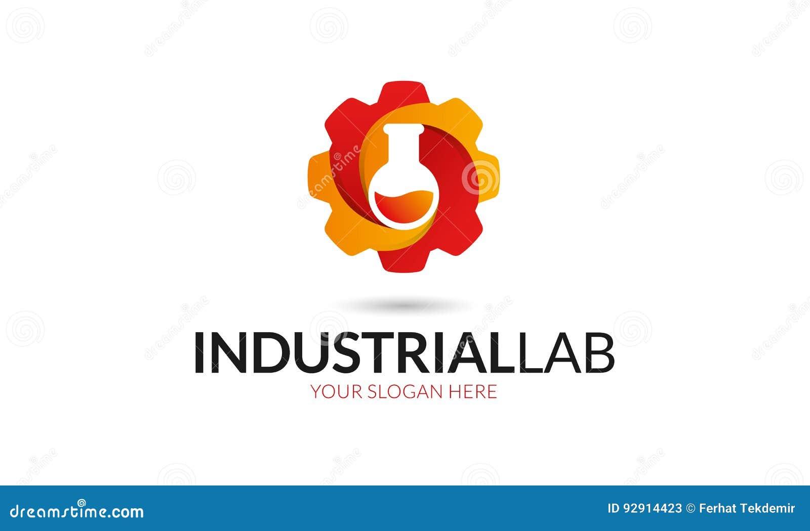 Logotipo Industrial Del Laboratorio Imagen de archivo - Imagen de ...