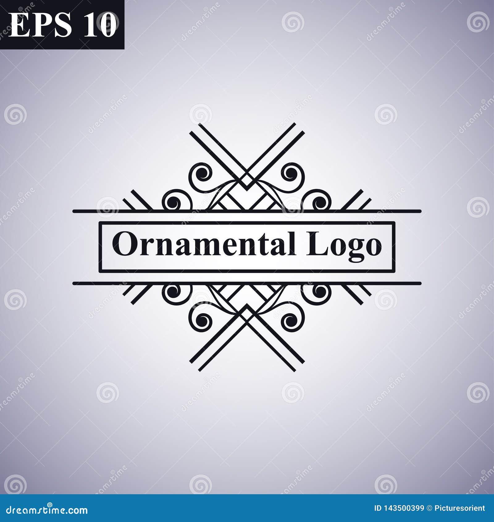 Logotipo linear del vector del vintage del art déco del vintage geométrico mínimo monocromático antiguo ornamental retro de lujo