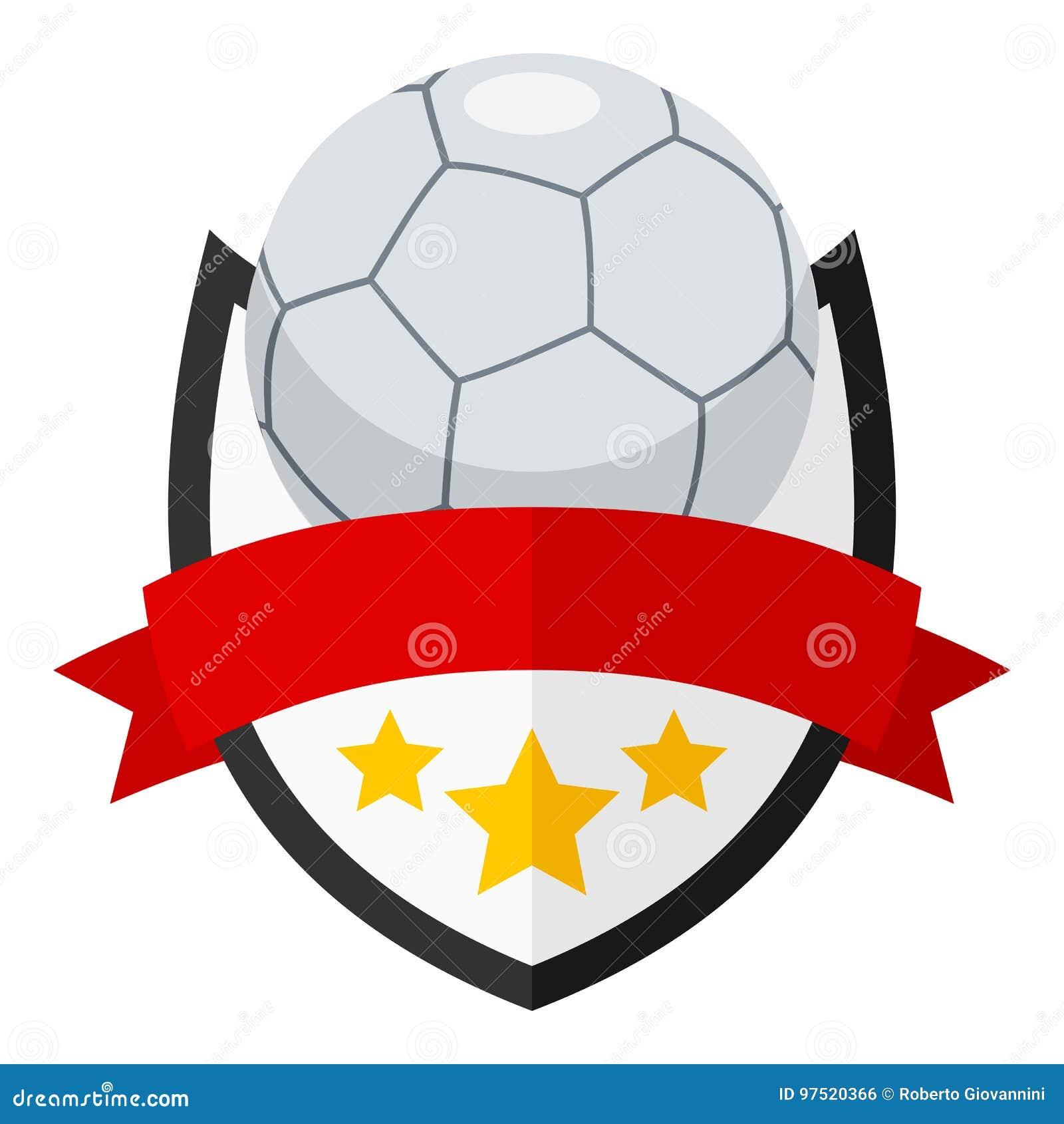 1db1fd7a4535f Logotipo Liso Da Bola De Futsal Com A Fita No Branco Ilustração do ...