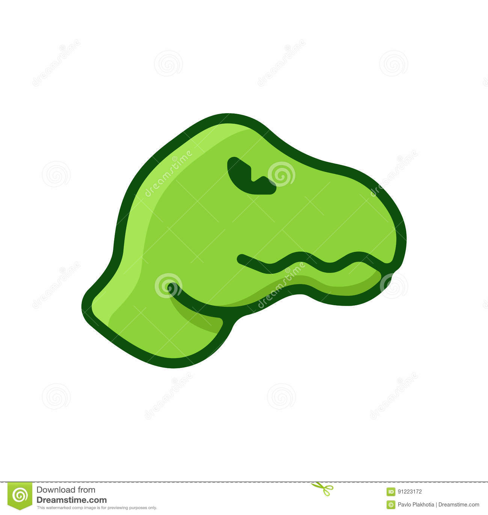 Logotipo liso do dinossauro