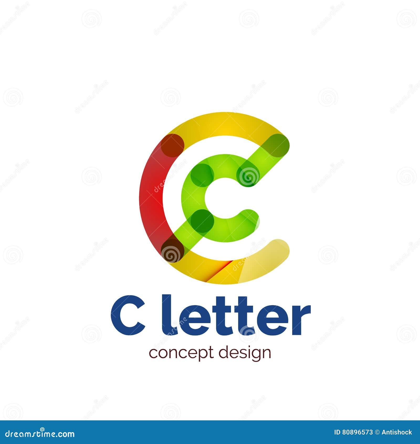 Logotipo minimalistic moderno do conceito da letra do vetor