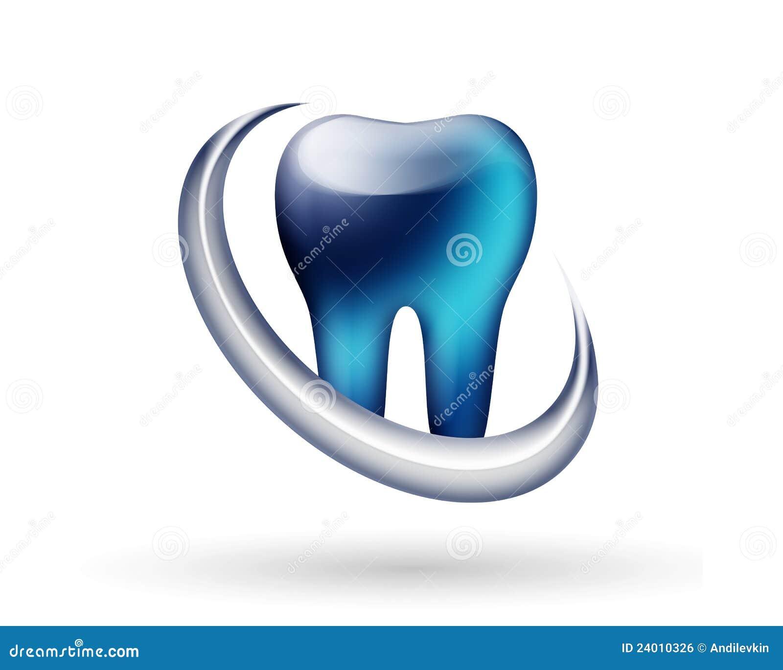 logotipo moderno do dentista imagem de stock royalty free