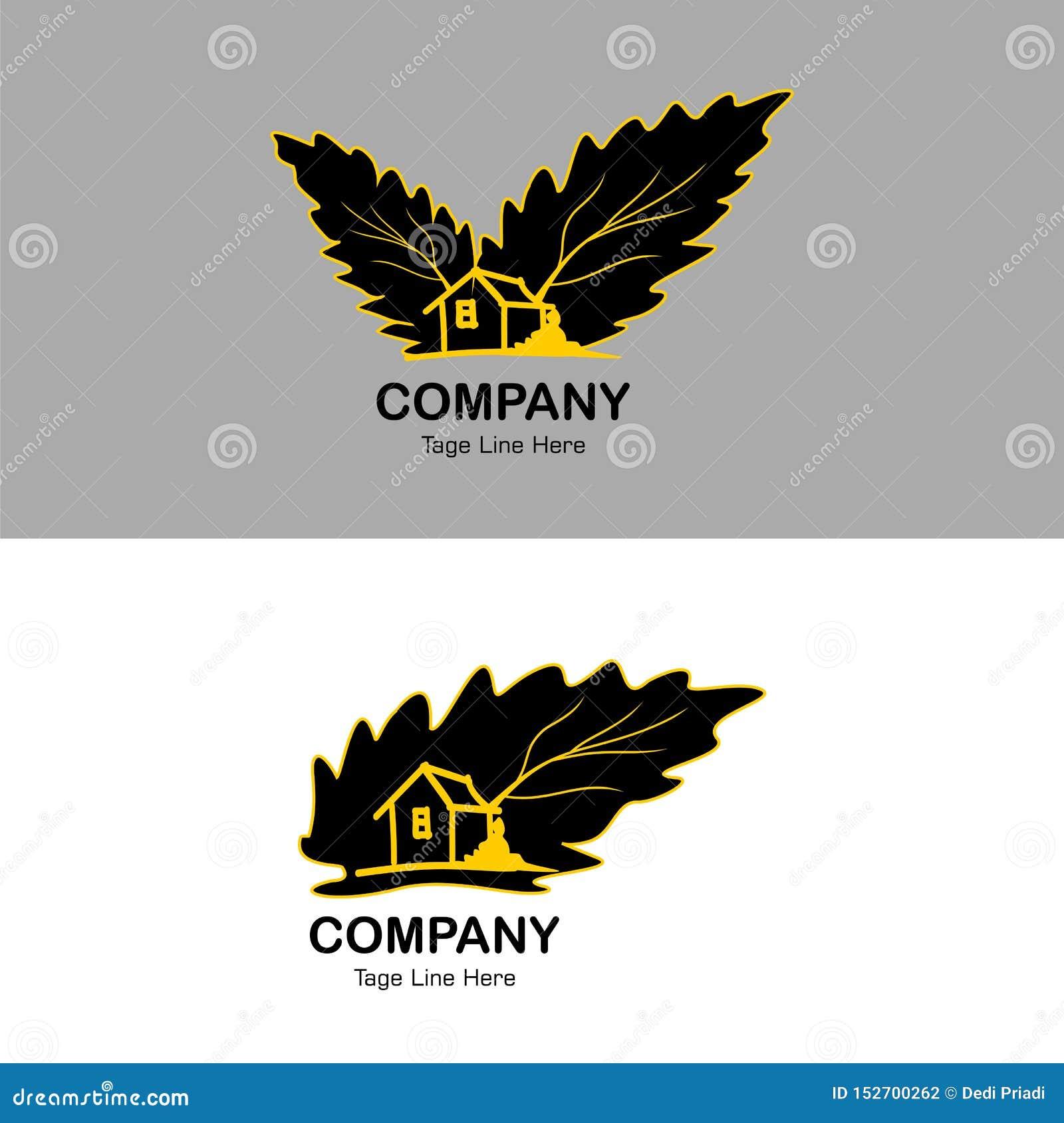 Logotipo natural, fundo simples do Homestay do homestay do ícone do logotipo - vetor
